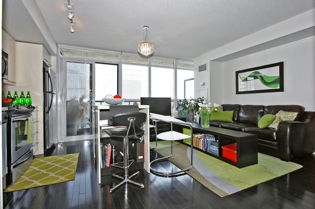 Fresh Urban Condo Design Modern Living Room Toronto
