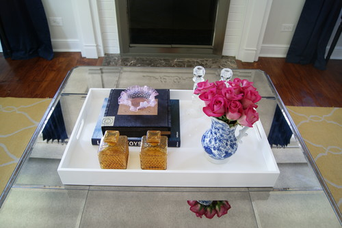 Use trays to style your coffee table.