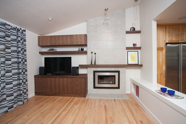 From Dated to Fabulous! contemporary-living-room
