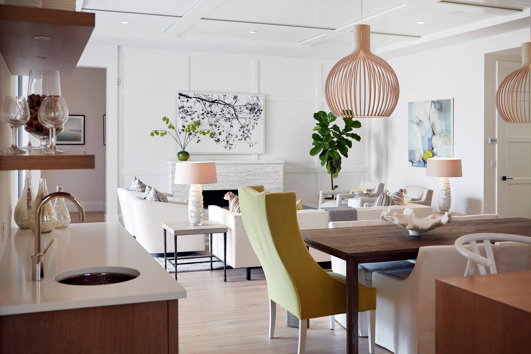 from Kitchen to Dining/Living