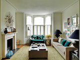 contemporary living room Houzz Tour: A West London Home Inspired by Travels (14 photos)