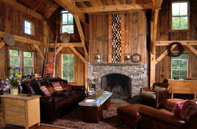 Full on Lodge style Rustic rustic-living-room