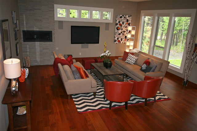 Fun Great Room contemporary-living-room