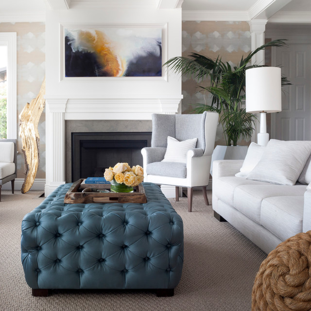 Photographer Trending Color Blue Transitional Living Room