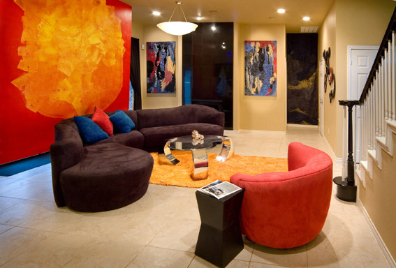 Funky decor contemporary living room houston by for Funky living room designs