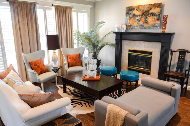 stacy39s funky formal eclectic living room dallas With interior design for 12x12 living room
