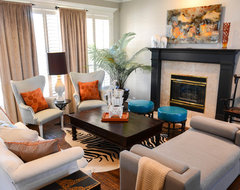 Stacys Funky Formal eclectic living room