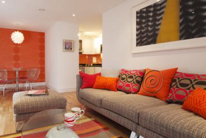 Funky Modern Living Room modern-living-room