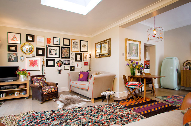 Funky traditional eclectic living room essex by for Traditional eclectic living rooms