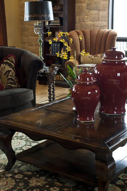 Gaillardia show home traditional-living-room