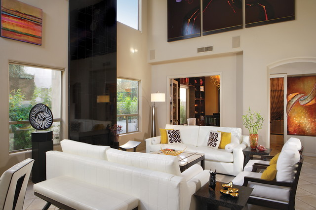 gainey village home contemporary living room phoenix