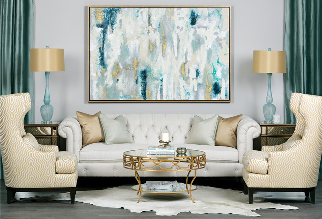 Gallagher Sofa - Sea Glass - Contemporary - Living Room - Houston ...
