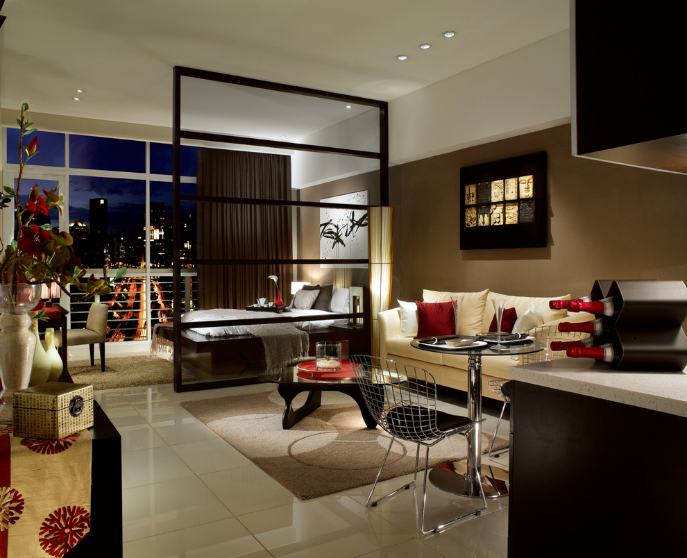 Asian Inspired Living Room gallery apartments - asian - living room - other -illy