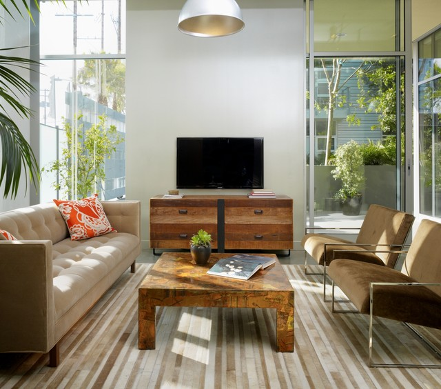 Gallery Loft Industrial Living Room Los Angeles by Incorporated