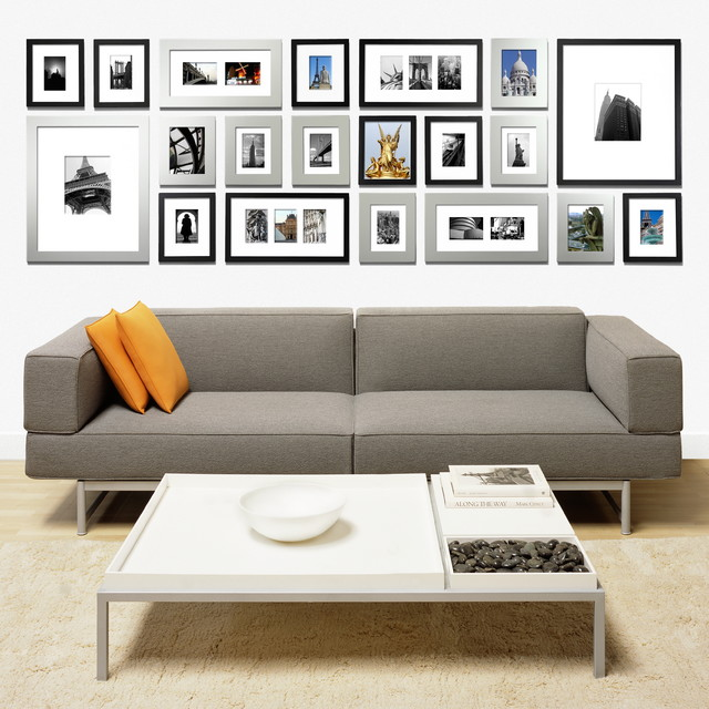 Gallery wall by picturewall modern living room san for Living room photo gallery