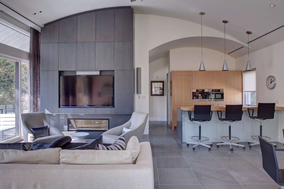 Garage Man Cave Modern Living Room Other By Weaver Construction