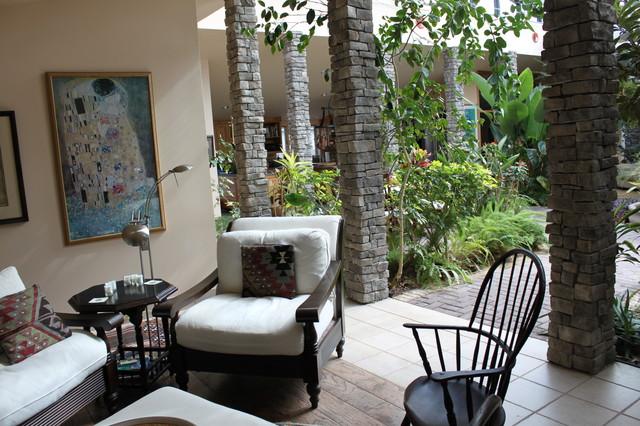 Garden Atrium Modern Living Room dc metro by