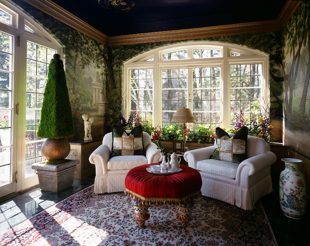 Garden sun room at aurbach mansion eclectic living for Designs for garden rooms