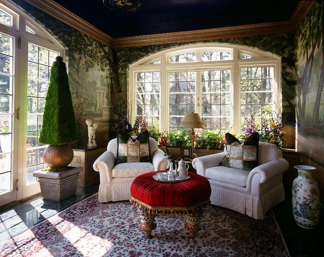 Garden sun room at aurbach mansion eclectic living for Garden rooms york