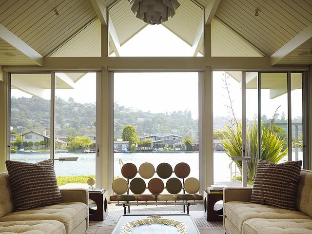 Gary Hutton Lagoon House midcentury-living-room