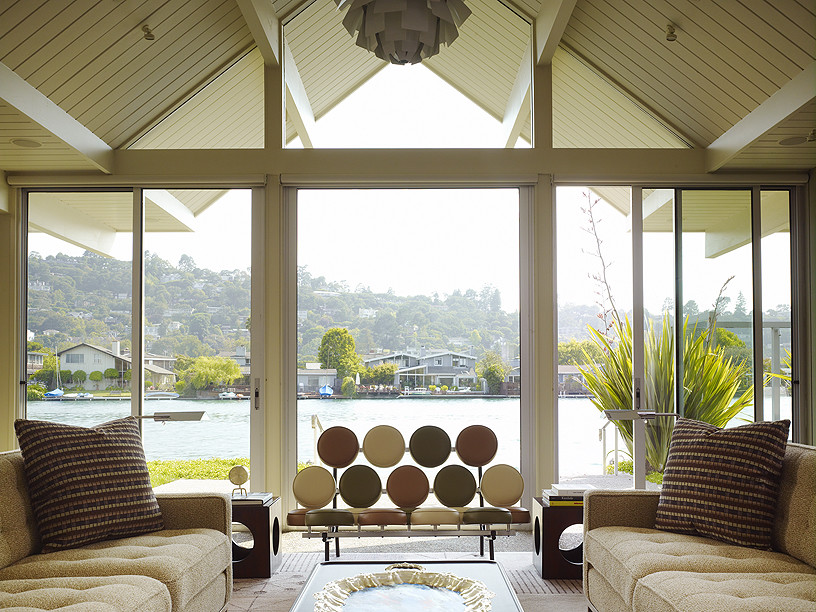 Inspiration for a 1950s living room remodel in San Francisco