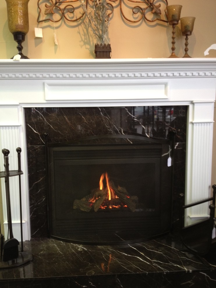 Gas Direct Vent Fireplace American Traditional Living Room