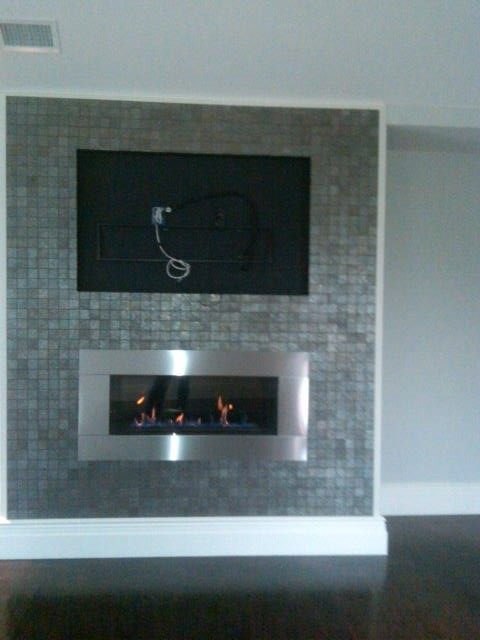 Gas Direct Vent Fireplace Contemporary Living Room New York