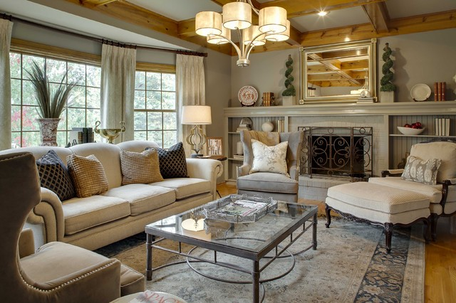Gather by the Fire - Transitional - Living Room - Kansas City - by ...