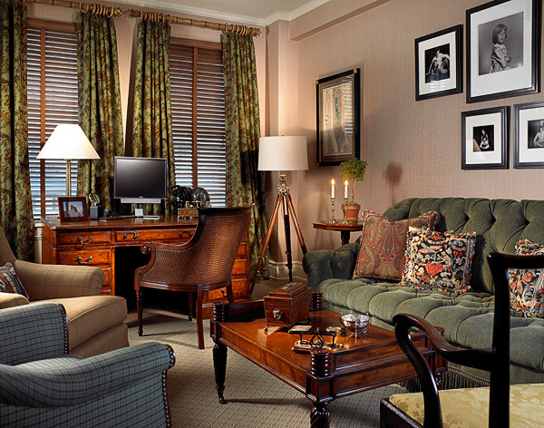 Gentleman\'s Apartment in New York City - Traditional - Living Room ...