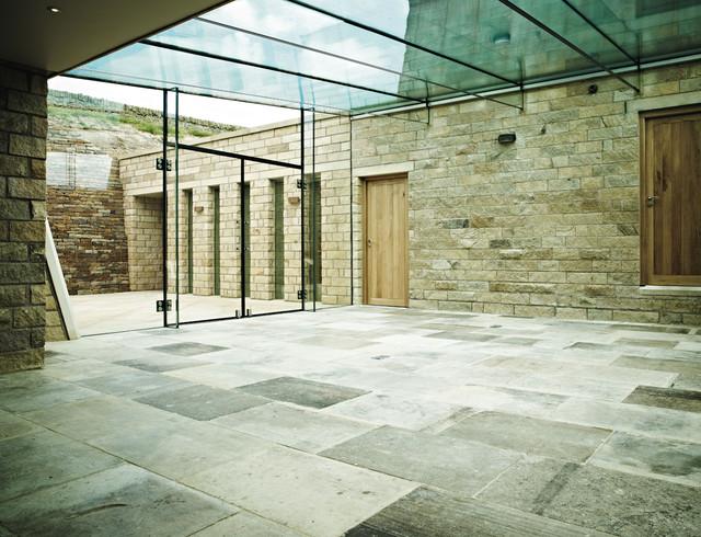 genuine antique barr de montpellier limestone - contemporary