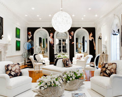 Geoffrey Bradfield Inc. eclectic living room