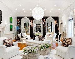 Geoffrey Bradfield Inc. eclectic-living-room