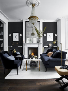 Black Sofa Living Room Ideas And Photos Houzz