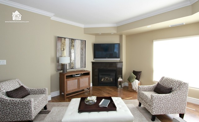 Georgetown Ontario Condo~ Move-In Decorating traditional-living-room