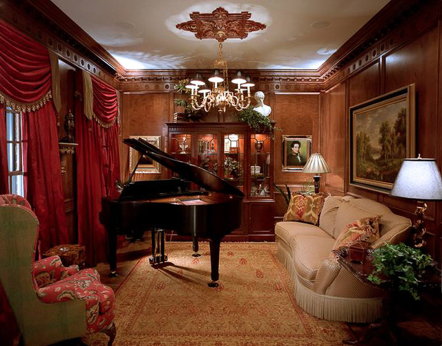 Georgian manor living room charlotte by durham for Georgian living room ideas