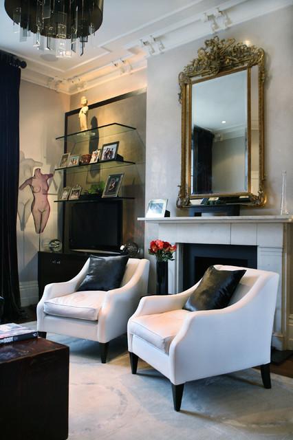 GeorgieMawInteriors contemporary-living-room