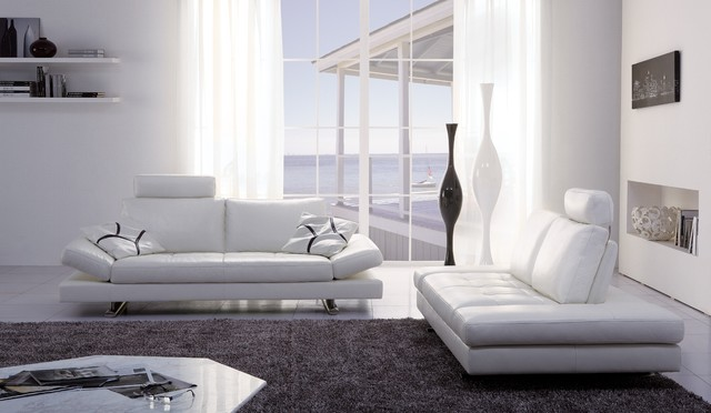 Gertrudes White Sofamodern Living Room Miami