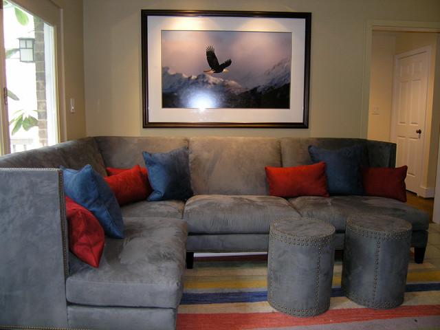 Giant Schnauzers contemporary-living-room