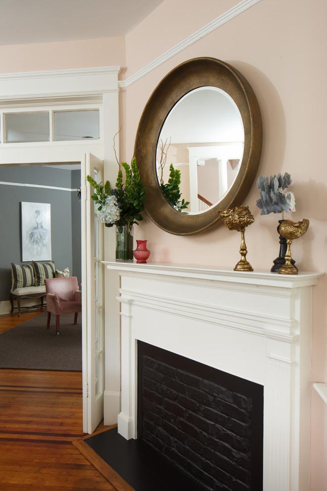 Living room - transitional living room idea in Charleston