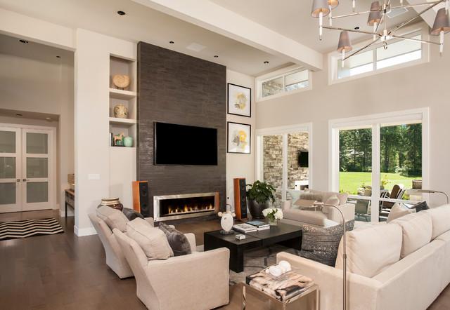 Gig Harbor New Construction Contemporary Living Room