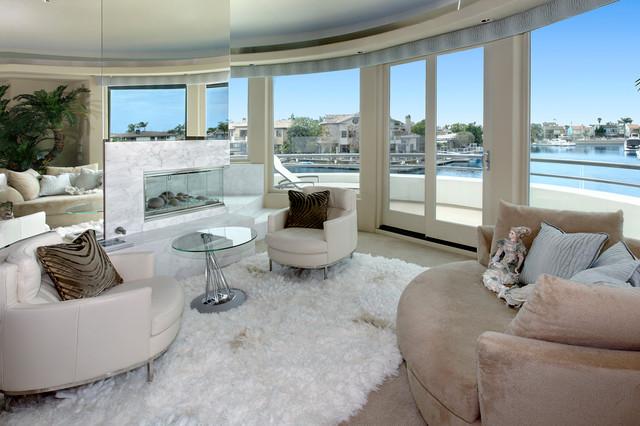 Gilbert Island Waterfront modern-living-room