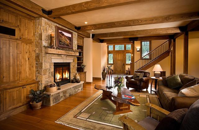 Glacier club mountain home rustic living room for Rustic home albuquerque