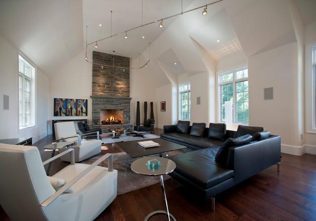 Gladwyne, PA - Custom Home contemporary-living-room