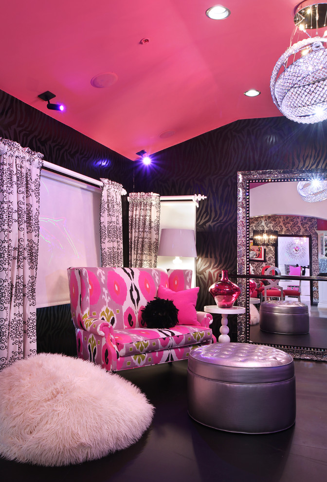 Glam Dance Studio Contemporary Living Room Los Angeles By Frank Pitman Designs