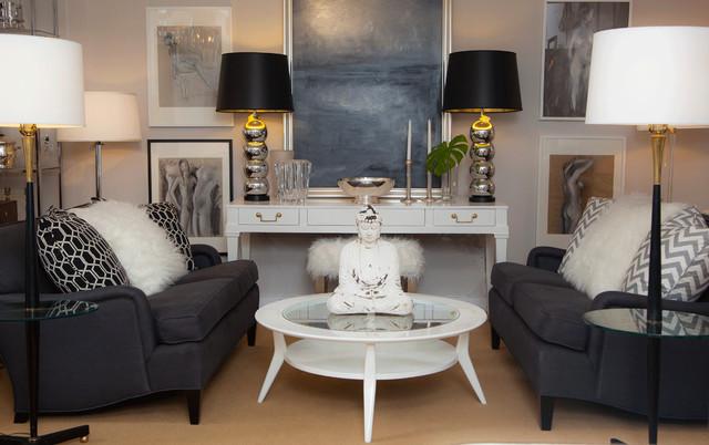 Glam Living Room Midcentury Living Room