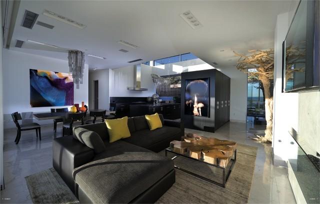 Glam Ventura Home contemporary-living-room