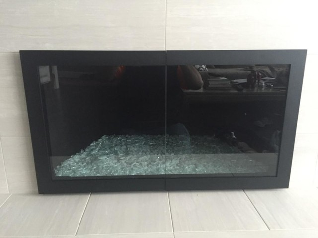 Glass Fireplace Doors Gas Logs Or Fire Features Contemporary Living Room Portland By