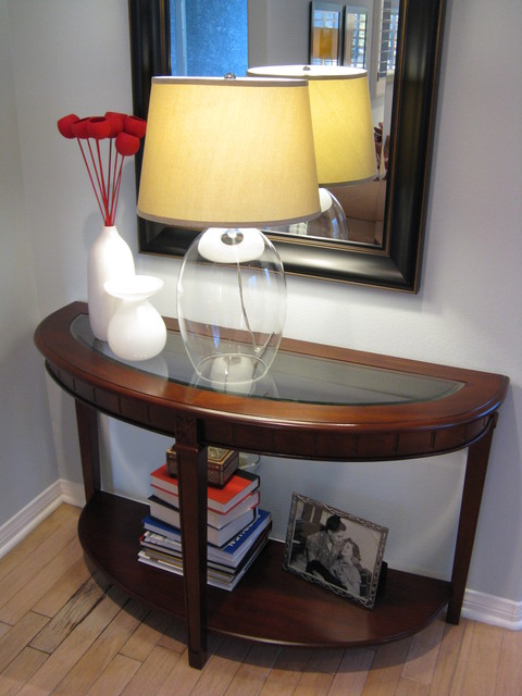 Glass Lamp traditional-living-room