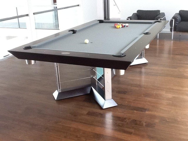 Glass pool table by mitchell pool tables modern living room new york - Billard table moderne ...