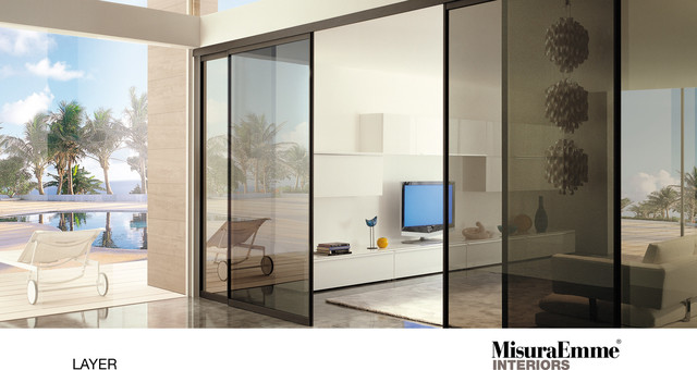 Glass Room Dividers Contemporary Living Other